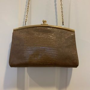 Handbags - Taupe Snakeskin Purse